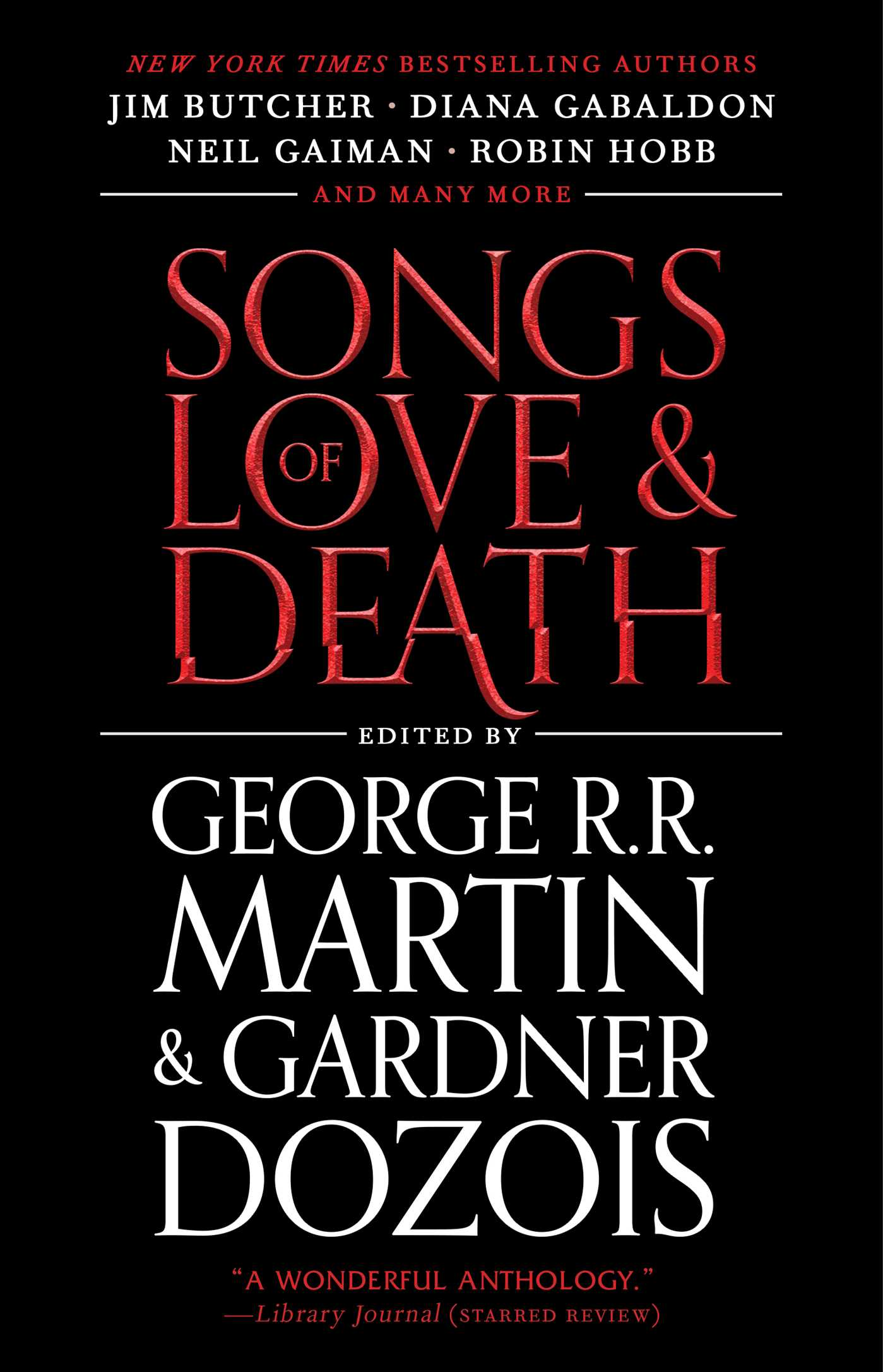 Cover art for the 2020 Songs of Love and Death paperback